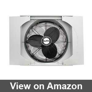 window fan for horizontal slider