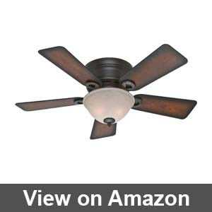 flush mount ceiling fans with lights