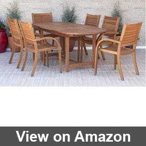 Round Outdoor Dining Table For 6
