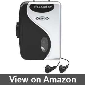 Jensen portable cassette player recorder