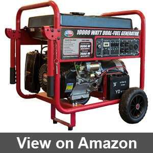Best 10000w dual fuel generator